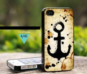 Vintage Old Anchor - For iPhone 4/4s Case, Hard Cover